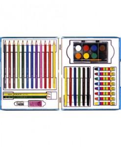 Удобно и практично пластмасово куфарче, което съдържа всичко необходимо за един малък творец