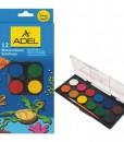 Adel Акварелни бои в кутия, 24 мм, 12 цвята