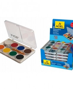 Adel Акварелни бои в малка кутия, 8 цвята