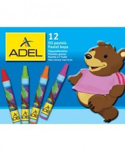 Adel Пастели маслени, 12 цвята