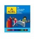 Adel Цветни моливи, 24 цвята