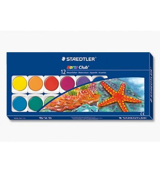 Акварелни бои Staedtler Noris Club 888 в кутия, 12 цвята