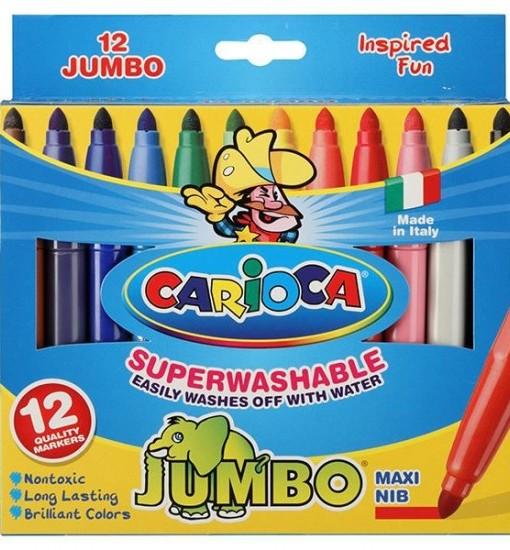 Carioca Флумастери Jumbo, 12 цвята