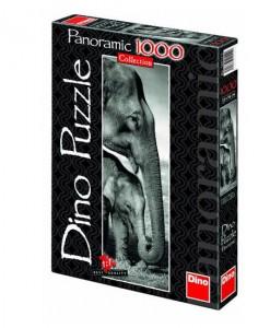 Dino Панорамен Слонове 1000 части