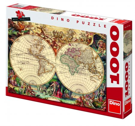 Dino Пъзел Историческа карта 1000 части