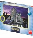Dino Пъзел Неон Tower Bridge 1000 части