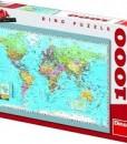 Dino Пъзел Политическа карта на света 1000 части