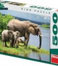 Dino Пъзел Семейство слонове 500 части