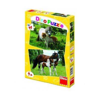 Dino Пъзел коне 2 х 48 части