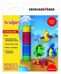 Eberhard Faber Моделин Sculpey, динозаври, комплект