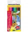 Eberhard Faber Цветни моливи 12 цвята +1 3 С+остр.