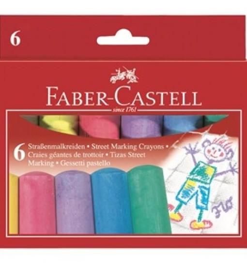 Faber-Castell Тебешир 6 цв.