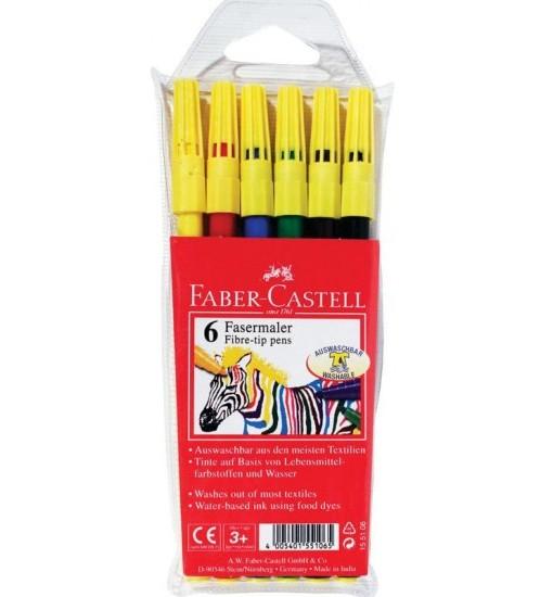 Faber-castell Флумастери, 6 цвята