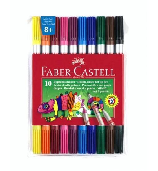 Faber-castell Флумастери, двувърхи, 10 цвята
