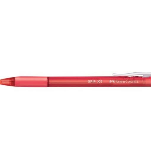 Faber-castell Химикал Grip X5, червен