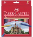Faber-castell Цветни моливи, 24 цвята+острилка