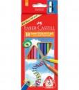 Faber-castell Цветни моливи Junior Grip, 10 цвята, с острилка