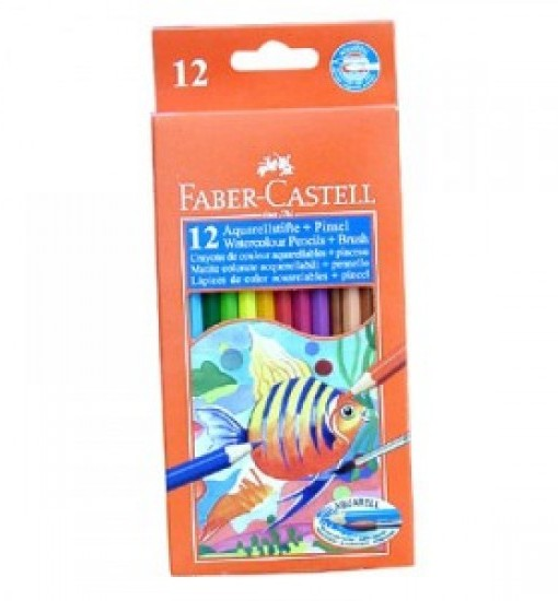Faber-castell Цветни моливи акварелни, 12 цвята