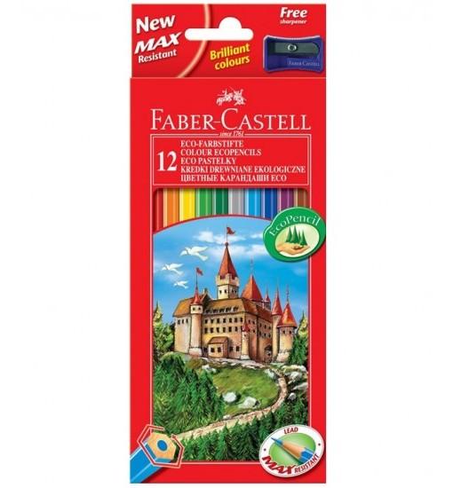 Faber-castell Цветни моливи с острилка, 12 цвята