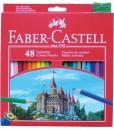 Faber-castell Цветни моливи с острилка, 48 цвята