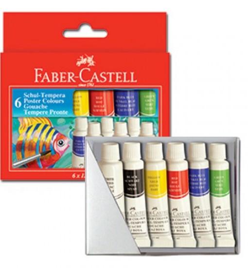 Faber-castell Темперни бои тубички, 6 цвята