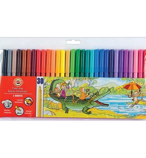 Koh I Noor Флумастери, 30 цвята