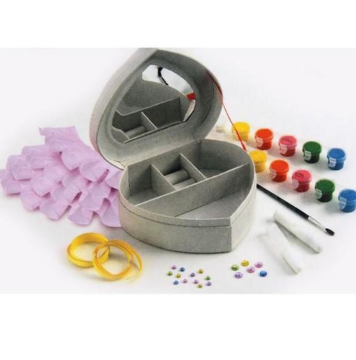 Творчски компмект кутия за бижута - сърце 2 Faber-castell