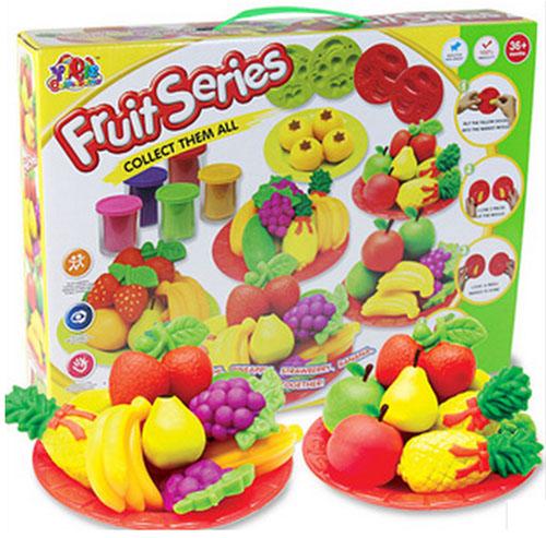 Цветна глинена серия - плодове