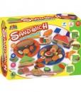 Цветна глинена серия - здравословен сандвич