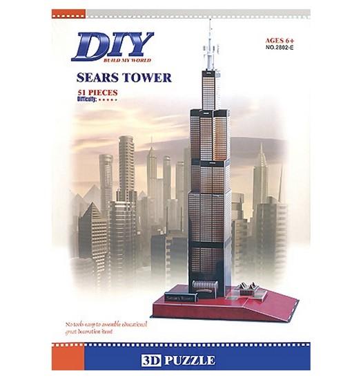 3D пъзел DIY Puzzle Уилис Тауър