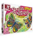 Детска креативна игра – Картини от паети - Пеперуди