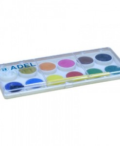 Adel Акварелни бои в малка кутия, 12 цвята