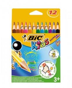 Цветни моливи BIC тропиколор, 12 цвята